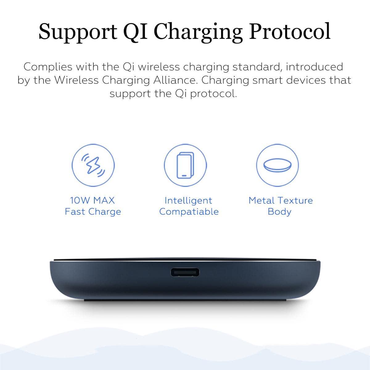 پد و شارژر وایرلس شیائومی Mi Wireless Charging Pad