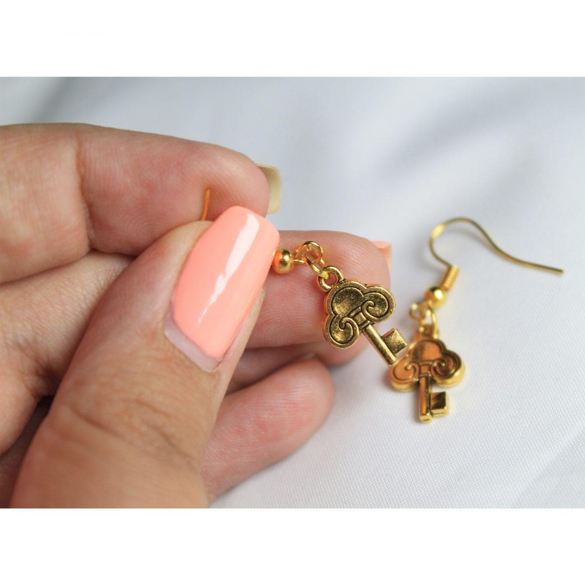 گوشواره زنانه طرح کلید مدل ki1