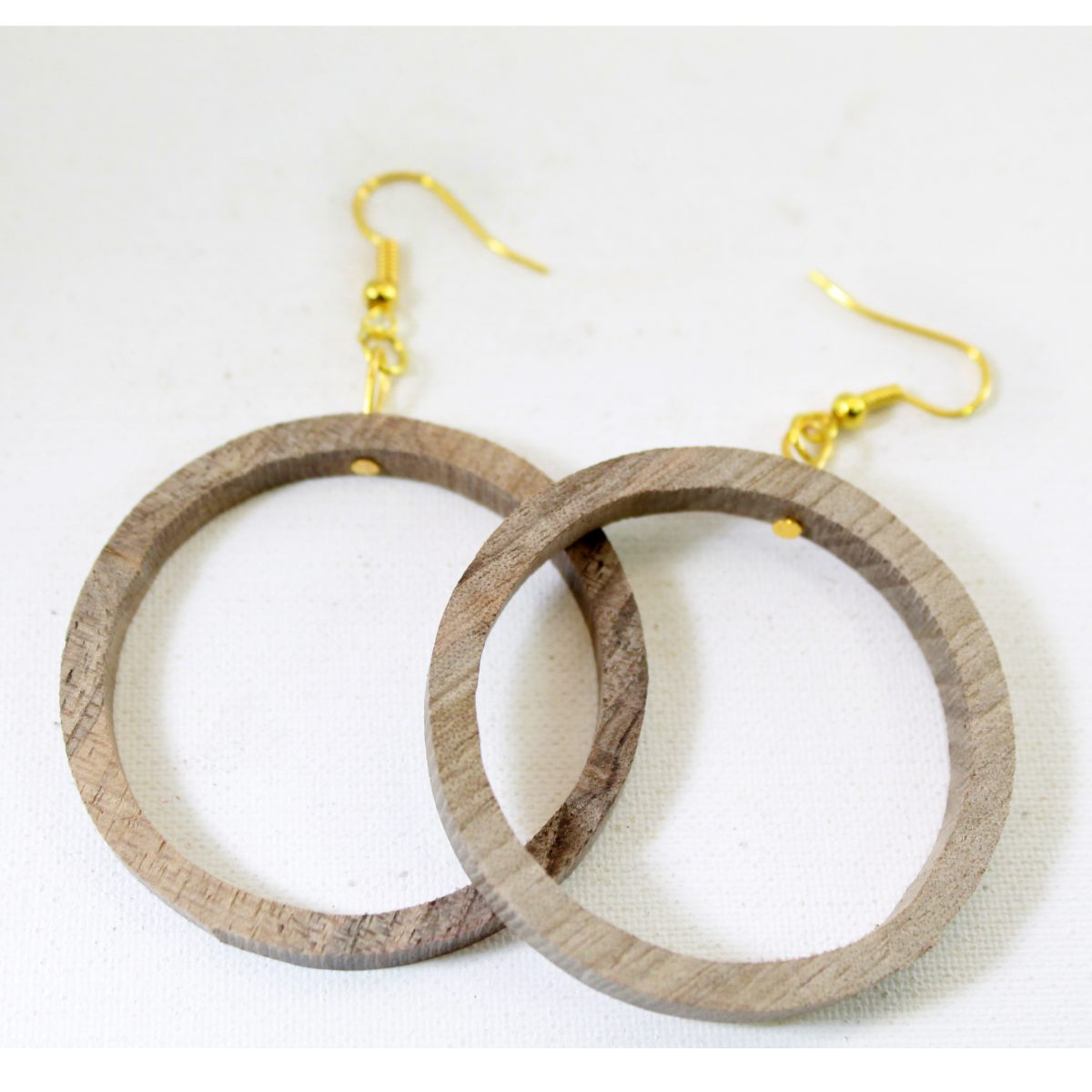 گوشواره حلقه چوبی